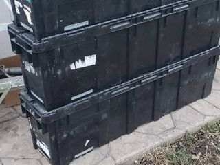 Trio of Plastic Shipping Containers