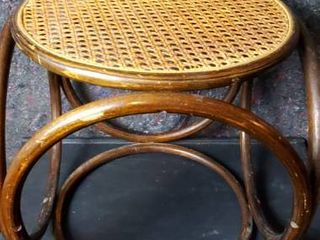 Cane Top Ottoman or Side Table