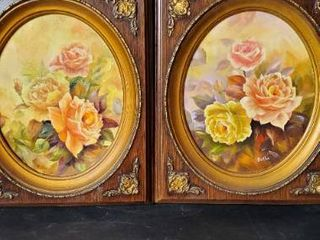 Pair of Pictures in Ornate Frames