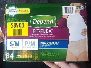 Depend Fit flex Underwear For Women S m 84 Count