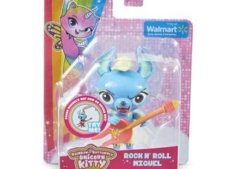 Rainbow Butterfly Unicorn Kitty Miguel with Guitar Figure Set