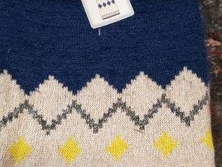Dog Sweater   Size Medium   Diamonds   Blue   light Beige   29844   Combine Ship