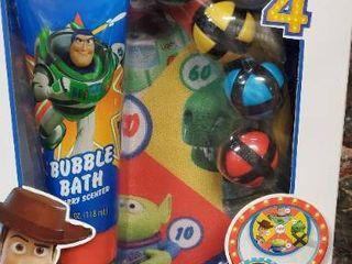 Toy Story 4a Bubble Bath   Dart Board Set
