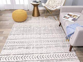 Rugshop Geometric Bohemian Design Area Rug 5  x 7  Gray