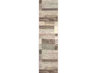 Superior Modern Rockwood Area Rug  2  x 11  Slate