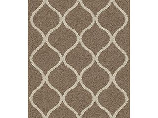 Maples Rugs Rebecca Contemporary Kitchen Rugs Non Skid Accent Area Carpet  Made in USA  2 6 x 3 10  CafAc Brown White