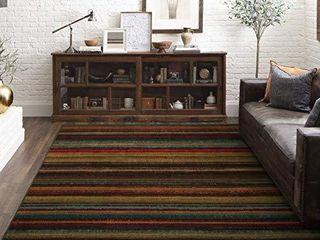 Mohawk Home Multicolor New Wave Boho Stripe Area Rug  6 x9
