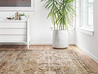 loloi II layla Collection Area Rugs  7 6  x 9 6  OlIVE CHARCOAl
