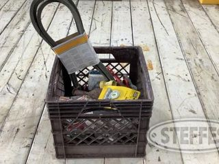 Crate of Assorted Hardware Tools Brackets 0 jpg