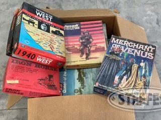 Box of Assorted Vintage Board Games 0 jpg