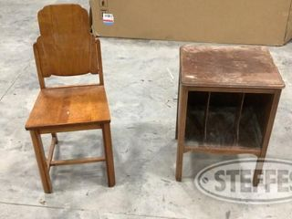Small Wooden Chair Wooden Cabinet 0 jpg
