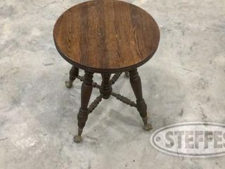 Claw Foot Wooden Stool 0 jpg