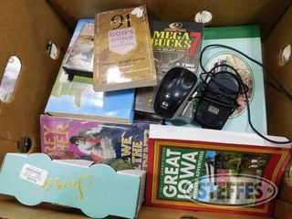 Box of Assorted Books Wine Glasses 1 jpg