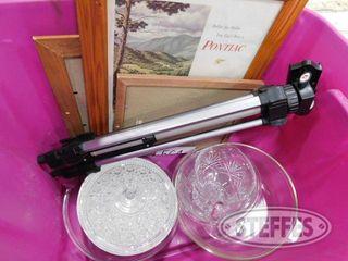 Assorted Glassware Camera Tripod 3 Frames 1 jpg