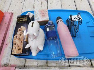 Jenga Game Pig Bank 2 Water Bottles 1 jpg