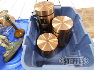 3 Copper Glass Canisters 1 jpg