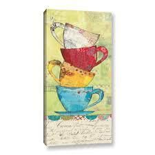 ArtWall Courtney Prahls Come for Coffee Canvas