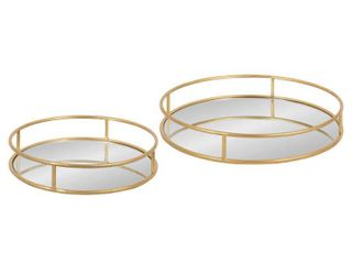Kate and laurel Felicia Round Nesting Trays   2 Piece