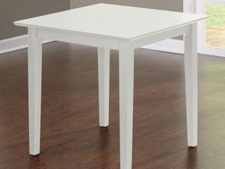 Udine White Square Dining Table