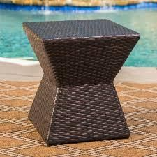 Calhoun Outdoor Square Wicker Side Table