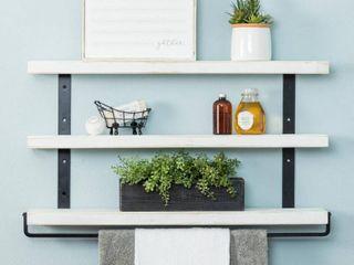 Del Hutson Designs Industrial Grace Three Tier Floating Shelves Retail 85 49