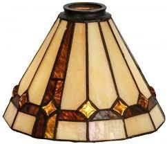 8in  Wide Belvidere lamp Shade in Brown