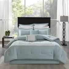 Madison Park Carlton Aqua 8 Piece Comforter Set