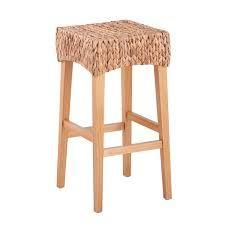 The Curated Nomad Kalip Tan Wicker Barstool