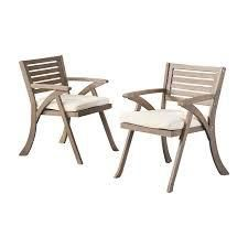 Outdoor Hermosa Wood Dining Chairs  2