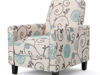 Darvis Floral Fabric Recliner Club Chair by Christopher Knight Home   Retail 262 99