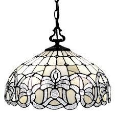 Tiffany Style White Hanging lamp 16 Inch