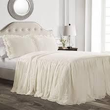 lush Decor Ruffle Skirt Bedspread Set   Queen