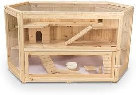 Deluxe Fir Wood 3 Tier Hamster House