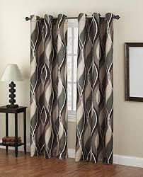 lichtenberg Intersect Grommet Woven Print Curtain Panels x 2