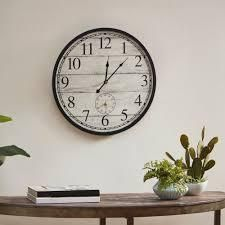 Madison Park Campbell Antique White Wall Clock