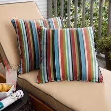 20in Sunbrella Rainbow Striped Pillow  SET OF 2