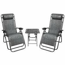 Havenside Home Amutu 3 piece Zero Gravity Chair Chair and Table Set  Retail 138 99