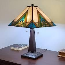 Gracewood Hollow Porochista 22 inch Tiffany style Mission Table lamp  Retail 105 49