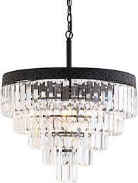 Wyatt 20in 4 light Crystal lED Chandelier