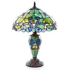 Gracewood Hollow Khelladi Stained Glass Multicolored Magna Carta Table lamp  Retail 139 99