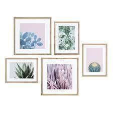 Kate and laurel Modern Cactus Framed Wall Art