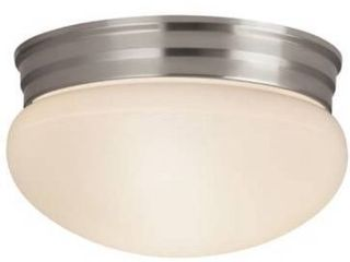 9 25 in Brushed Nickel Traditional Flush Mount light
