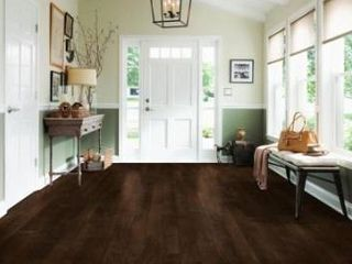 Bruce hydropel 5 in Timberland taupe oak wire brushed engineered hardwood flooring 22 6 sq ft