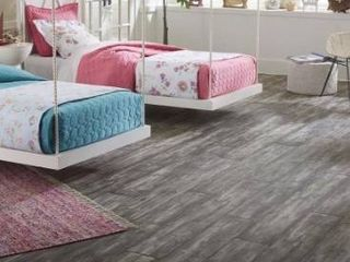 Pergo timbercraft   wetprotect waterproof landry oak 7 48 in W x 54 33 in l embossed wood plank laminate flooring