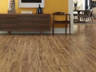 Pergo timbercraft   wetprotect waterproof Village grove hickory 7 48 in W x 54 33 in l embossed wood plank laminate flooring