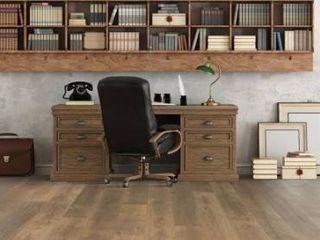 Pergo timbercraft   wetprotect waterproof Wheaton oak 7 48 in W x 54 33 in l embossed wood plank laminate flooring