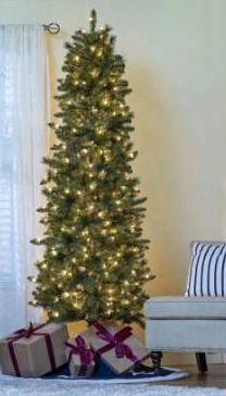Holiday living 7ft Sonoma pine prelit slim artificial Christmas tree   lights donat work