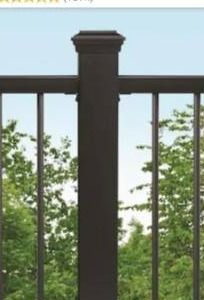 Trex 4 in x 4 in Charcoal Black Composite Deck Post Sleeve