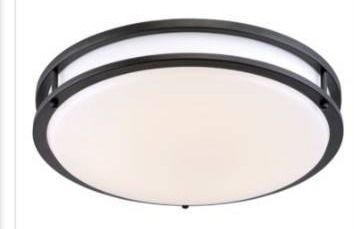 Oil rubbed bronze 10 in lED flush mount by designers fountain