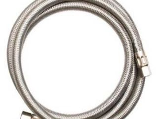 Eastman 10ft and 6ft compression outlet stainless steel ice maker connector